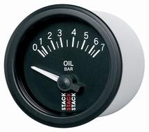Stack Oil Pressure Gauge black