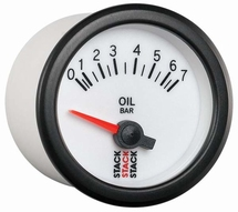 Stack Oil Pressure Gauge white