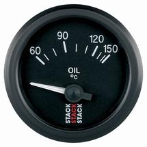 Stack Oil Temperature Gauge black