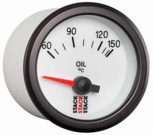 Stack Oil Temperature Gauge white