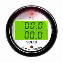 Dubbele digitale oliedruk/volt meter 52mm