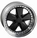 3-part Porsche Fuchs style wheels 18