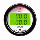 SPA Design Oil Pressure - Volts Dual Gauge